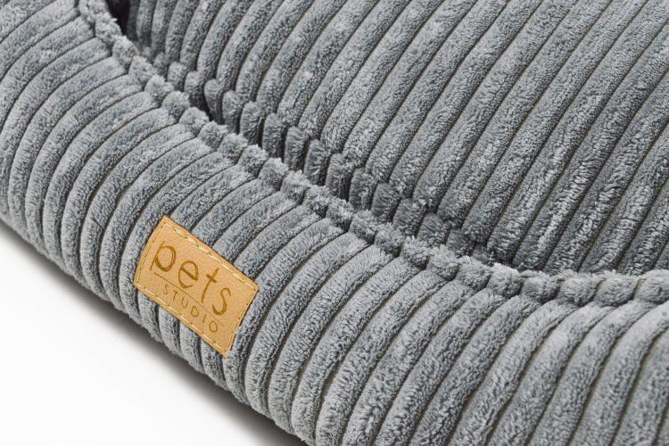 Hundekissen sechseckig Grau Cord
